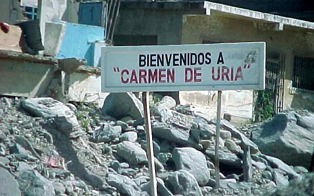 The buried village of Carmen de Uria, a village destroyed by natural disaster.
