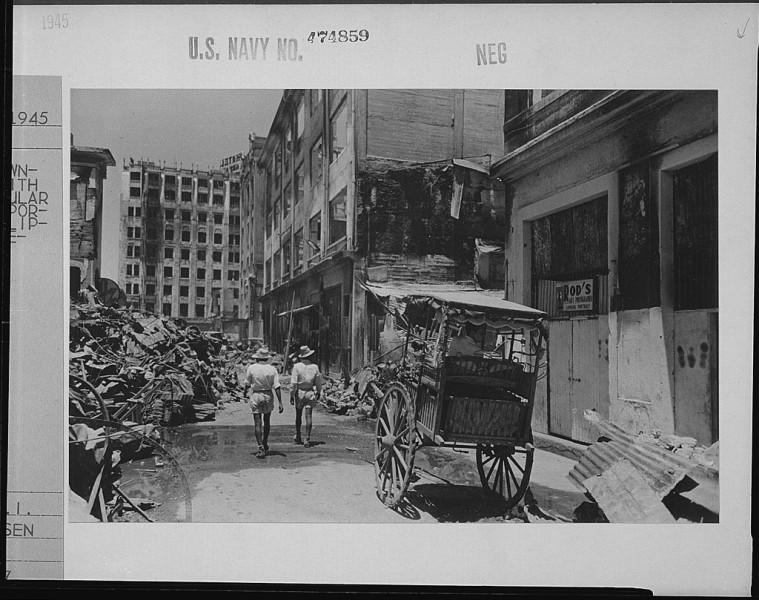 Manila in 1945, devastated from World War 2.
