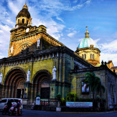 Basilica of the Immaculate Conception, Manila. Photo via Wikipedia.