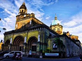Basilica of the Immaculate Conception, Manila. Photo via Wikipedia.