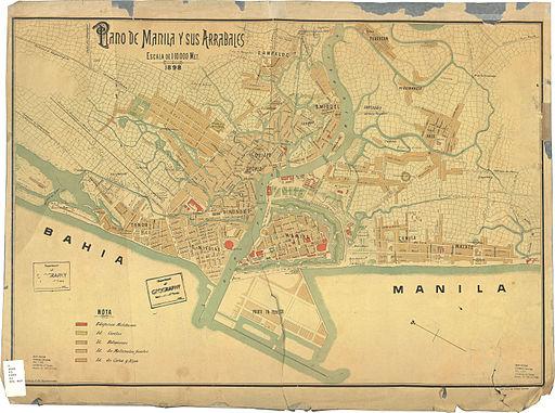 A map of Manila in 1898.