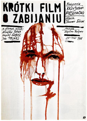 A SHORT FILM ABOUT KILLING, (aka KROTKI FILM O ZABIJANIU), Polish poster art, 1988
