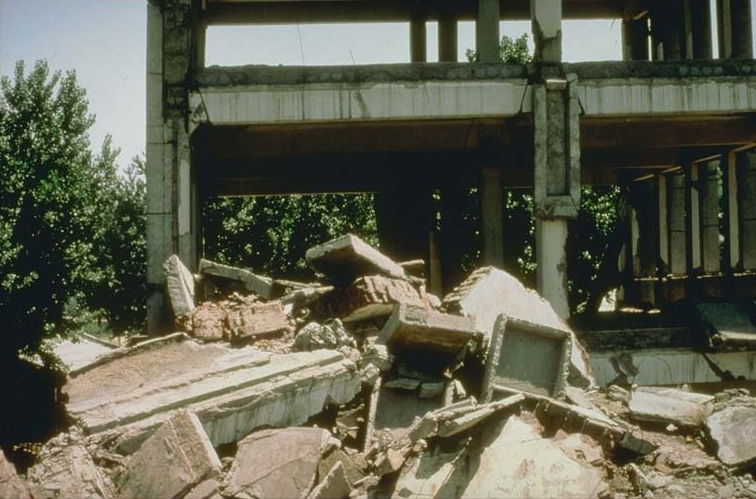 Tangshan earthquake damage.