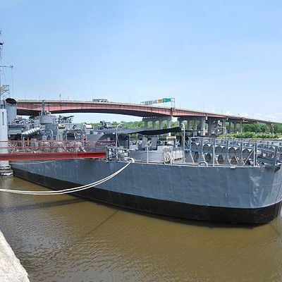The U.S.S. Slater at its permanent port in Albany. Photocredit: Wikipedia.com