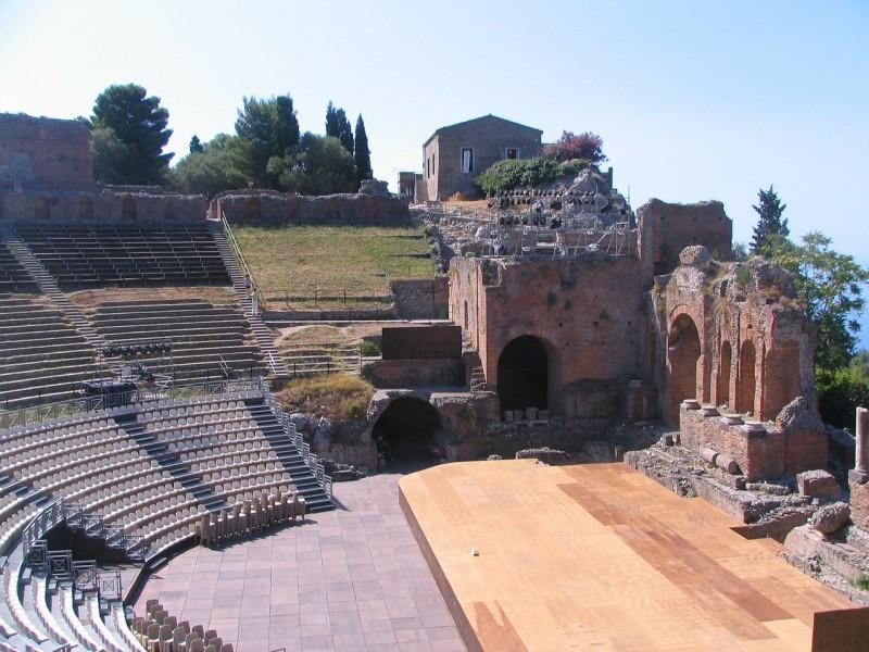 Taormina's Greek theater still looks good.