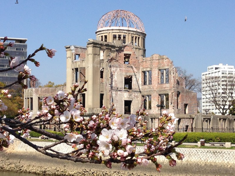 The A-Bomb Dome looks almost peaceful in modern Japan.