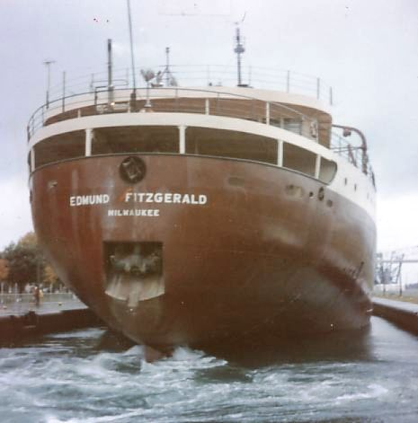The SS Edmund Fitzgerald in dock