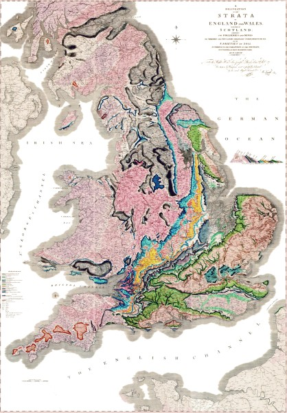 A map of England by William Smith