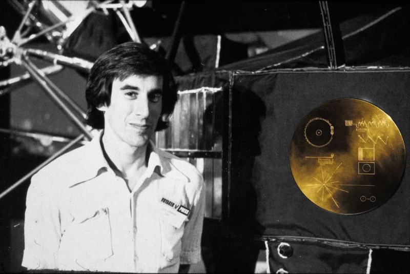 Jon Lomberg and the Voyager Golden Record, picture credit Jon Lomberg