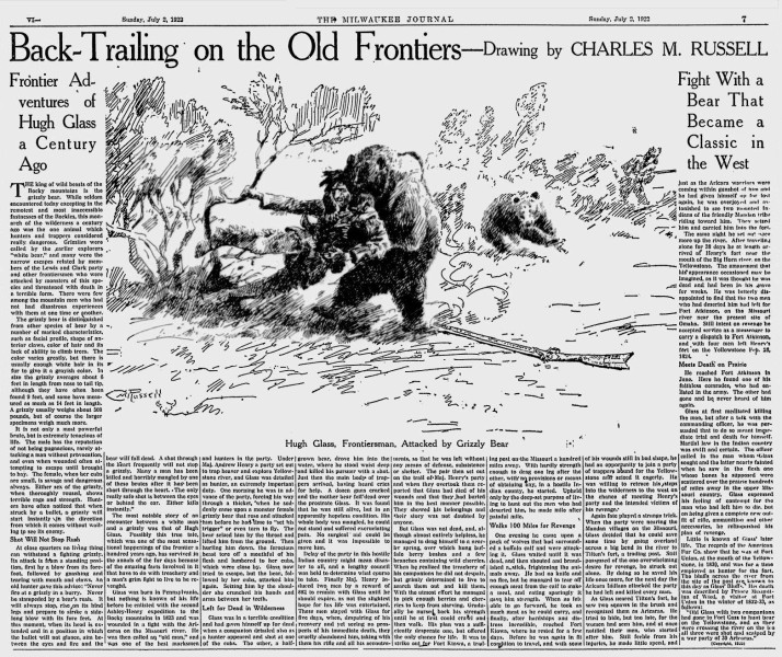 Hugh Glass takes on the grizzly bear