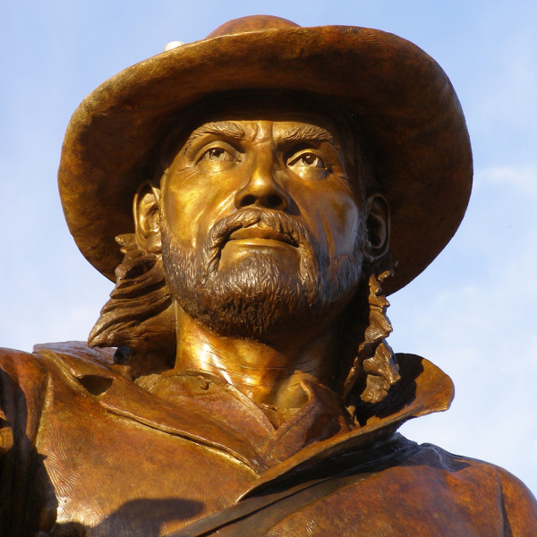 Statue of Jim Bridger.