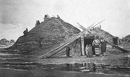 A Nebraskan Pawnee earth lodge