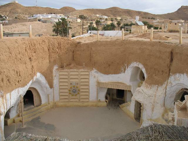 In Matmata Tunisia, the hotel that was Luke's home in Episode IV.