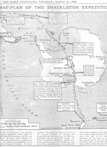 Sir Ernest Shackleton's plan for exploring the Arctic on The Endurance