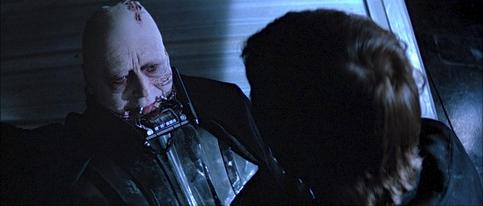 Sebastian Shaw as the unmasked Darth Vader in Episode VI.