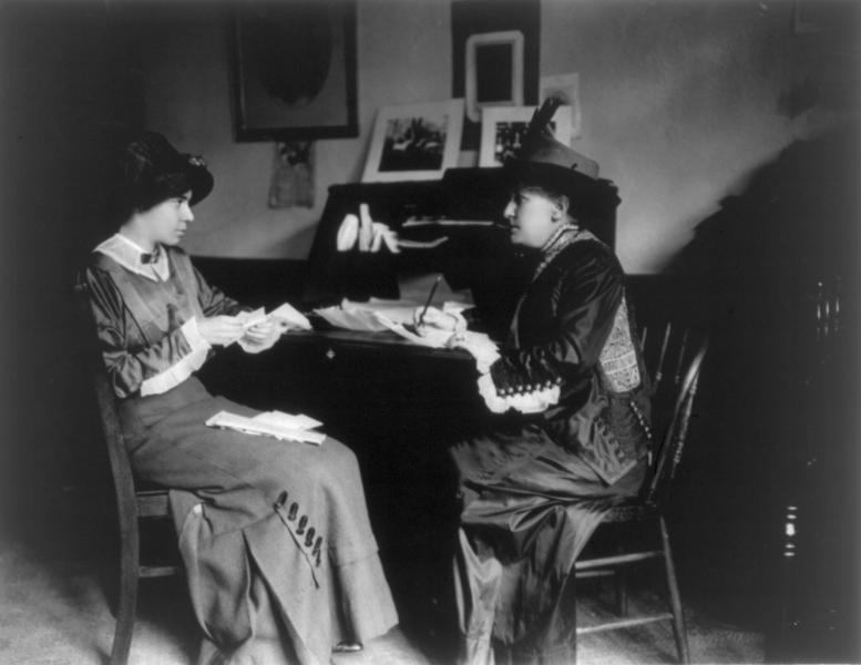 Helen Gardener and Alice Paul.