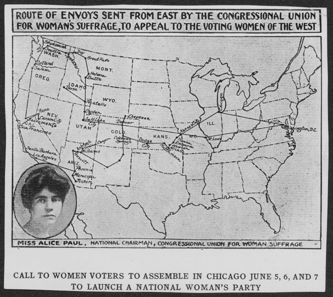 Alice Paul knew the women in the West could vote. She asked for their help.