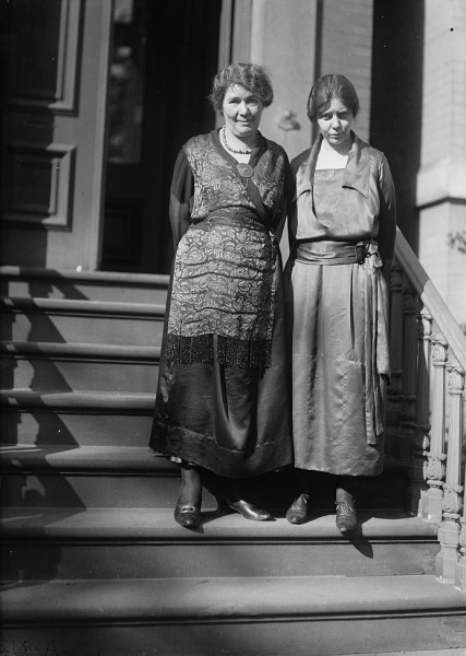 Alice Paul and her friend, Lady Emmeline Pethick-Lawrence.