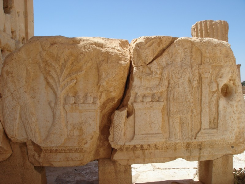 Palmyrene stone carving.