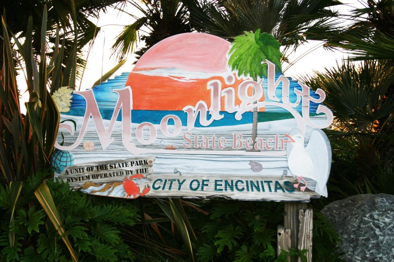 Moonlight Beach Sign