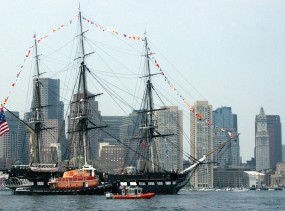 USS Constitution in Boston Harbor