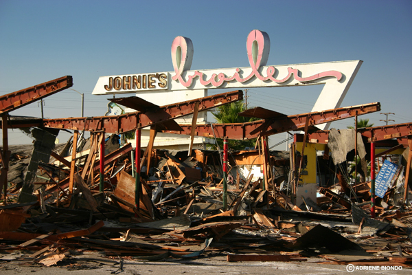 Johniie's after demolition
