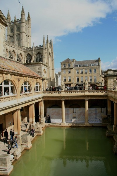 The Romans baths and bath abbey