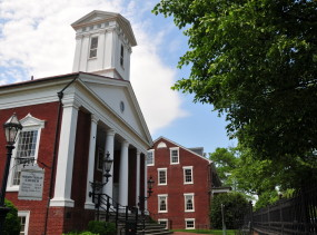 Presbyterian Church in Fredericksburg, Virginia.  Photo via wikipedia by Roger Price