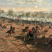 Thure_de_Thulstrup_-_L._Prang_and_Co._-_Battle_of_Gettysburg_-_Restoration_by_Adam_Cuerden_(cropped)-1