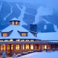 Stowe Mountain Rentals Winter Lodge. Photo via GoStowe.com