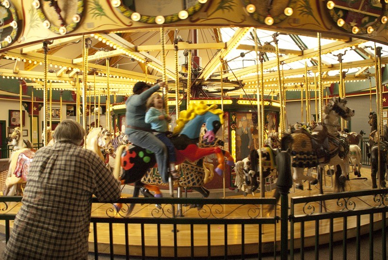The carousel opened on May 27, 1995, and has since attracted people of all ages.